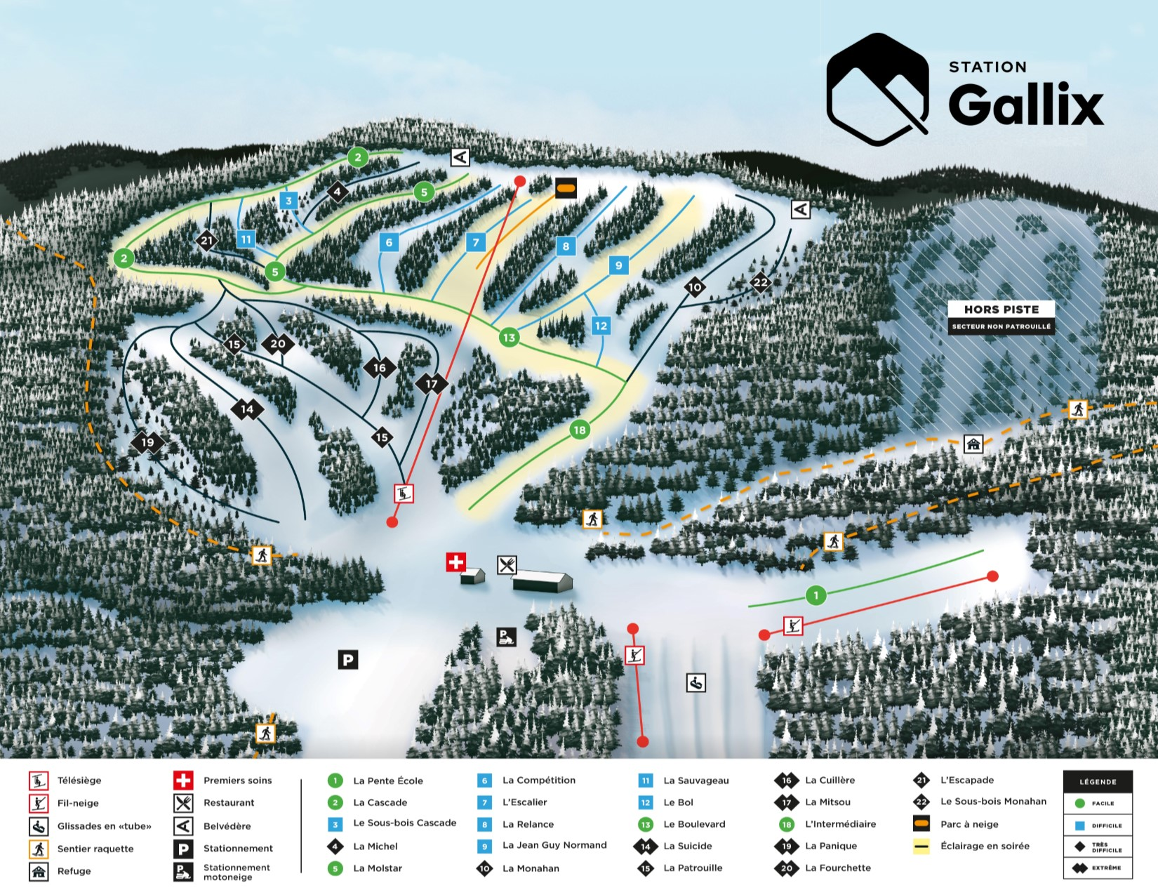 plan pistes station gallix