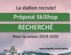 FB recrutement ski shop