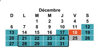 Calendrier 20-21 décembre