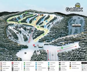plan pistes station récréotouristique gallix pentes montagne piste