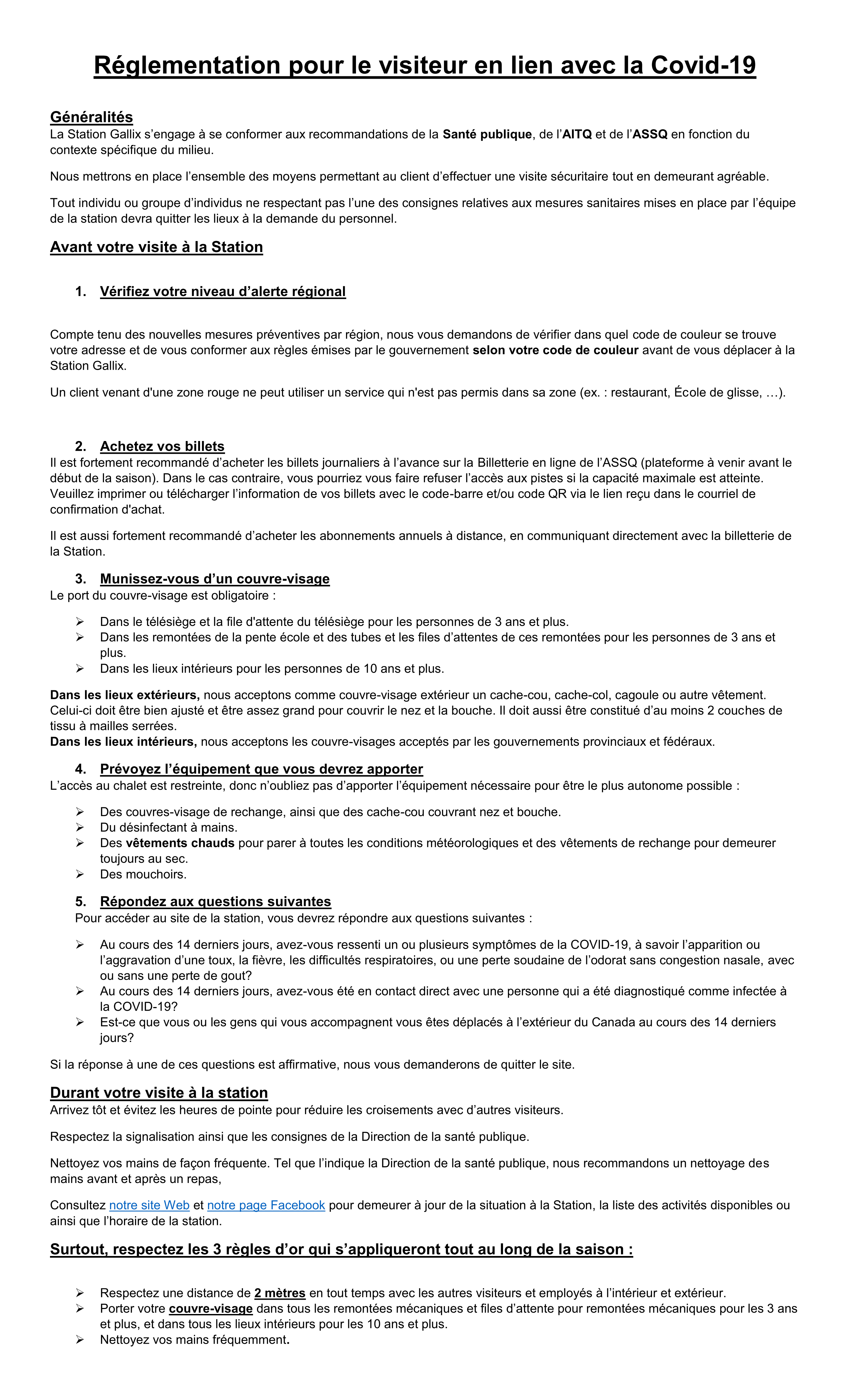 Réglementation pour le visiteur en lien avec la pandémie de Covid-19_02